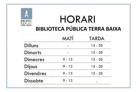 HORARI NOU HIVERN BIBLIOTECA