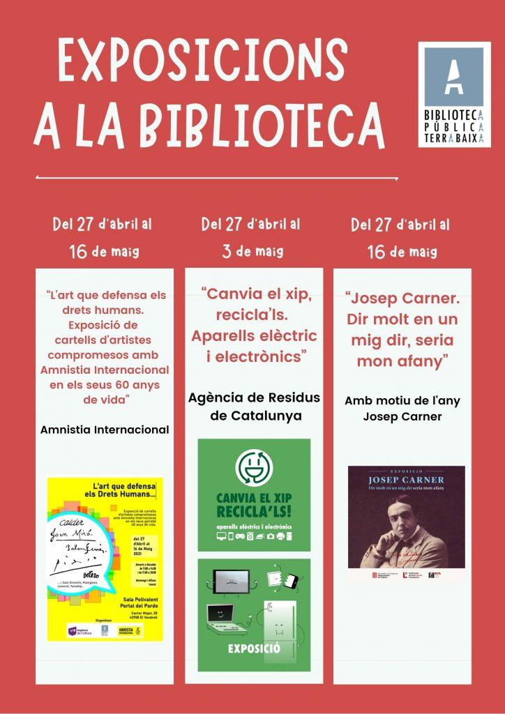 Exposicions Biblioteca Maig 2021