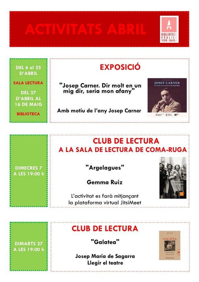 Programa activitats abril 2021
