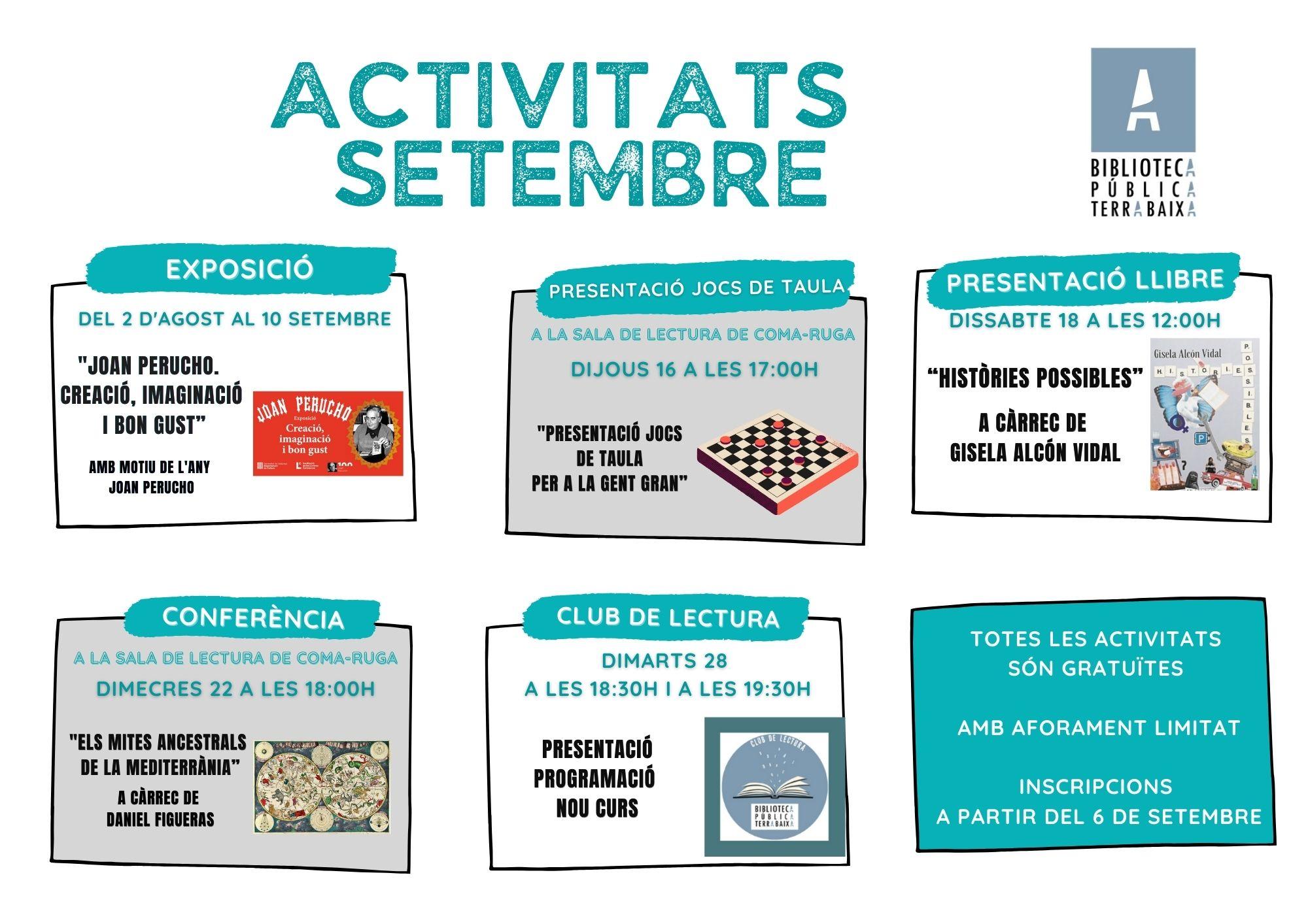 Programa activitats setembre 2021